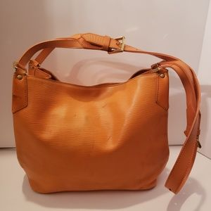 Louis Vuitton orange epi purse